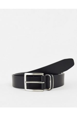 French Connection Men Belts - Leather detail keeper belt in