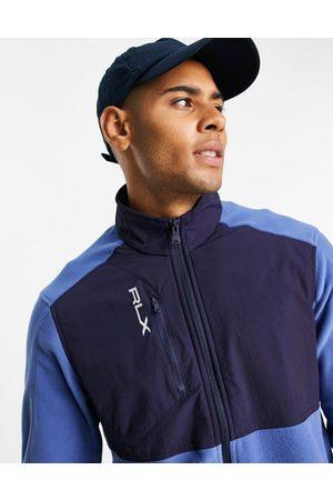 Polo Ralph Lauren Golf RLX hybrid colourblock half zip sweatshirt in /navy