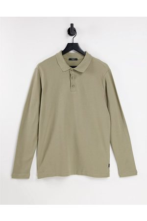 JACK & JONES Men Polo Shirts - Premium long sleeve polo with texture in -Neutral