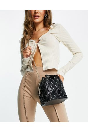 ASOS Bucket bag in quilt with chain strap
