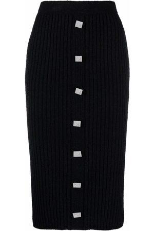 GIUSEPPE DI MORABITO Button down pencil skirt