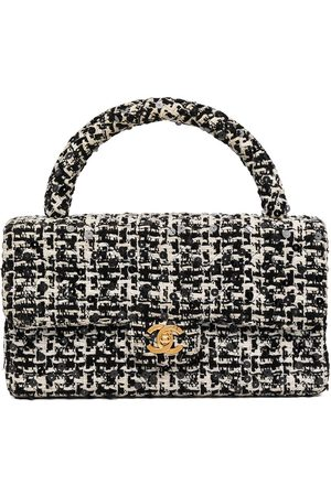 CHANEL 1993 CC tweed sequinned handbag