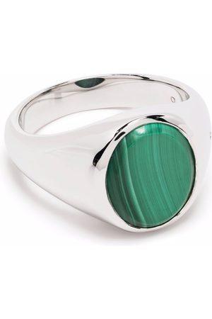 TOM WOOD Rings - Lizzie malachite signet ring