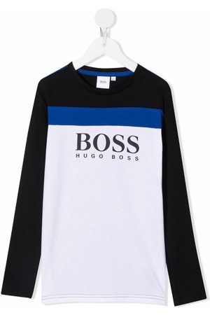 HUGO BOSS Boys Long Sleeve - Logo-print long-sleeve top