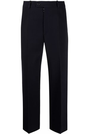 Maison Margiela Women Formal Pants - Piped-trim tailored trousers