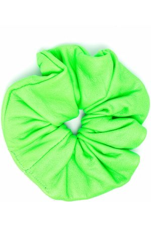 Manokhi Ruched leather hair scrunchie