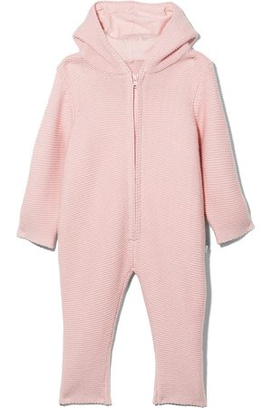 Stella McCartney Bunny ears zipped knitted babygrow