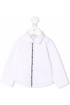 Emporio Armani Baby Tops - Logo-print cotton shirt