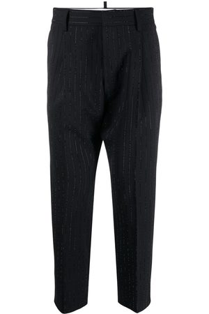 Dsquared2 Men Formal Pants - Crystal-embellished tailored trousers