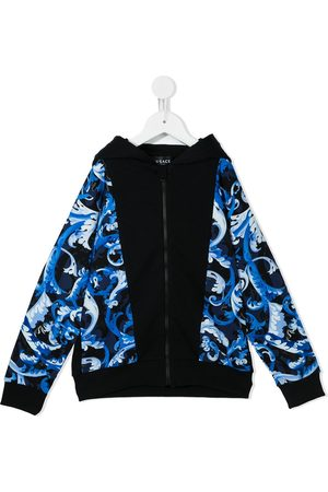 VERSACE Boys Hoodies - Baroque-print hoodie