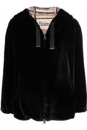 HERNO Women Bomber Jackets - Faux fur bomber jacket
