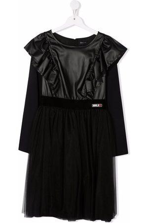 MONNALISA Girls Casual Dresses - TEEN logo ruffle biker dress