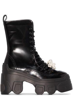 Simone Rocha Women Boots - SIMONE 95 PLTFRM BT CMBT MD CLF TRCKR SL