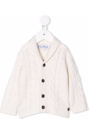 Tartine Et Chocolat Cable-knit button-down cardigan