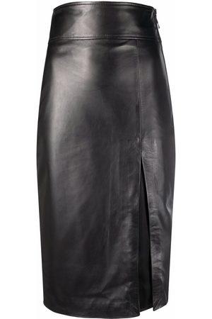 Manokhi Laura leather pencil skirt
