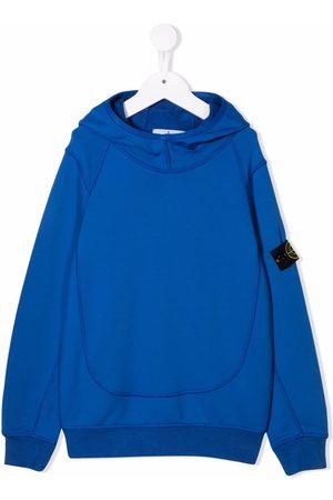 Stone Island Boys Hoodies - Logo long-sleeve hoodie