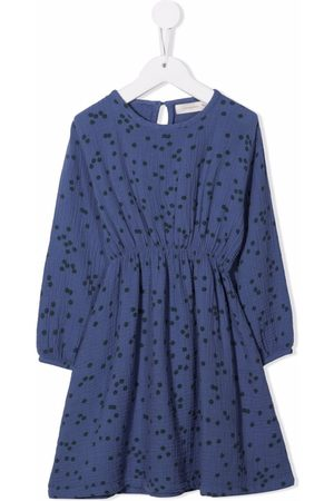 Tiny Cottons Girls Casual Dresses - Daisies-print flared dress