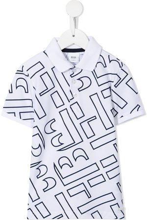 HUGO BOSS Boys Polo Shirts - Logo-print polo shirt