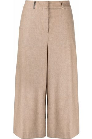 PESERICO SIGN Women Culottes - High-waisted knitted culottes