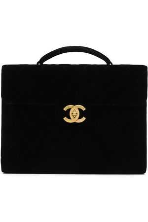 CHANEL 1992 quilted CC briefcase
