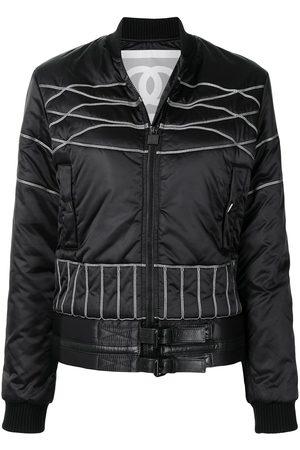 CHANEL Women Sports Jackets - 2006 CC Sports Line padded bomber jacket