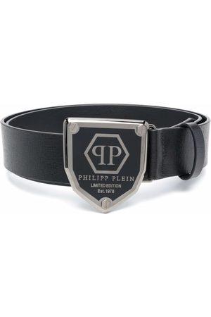 Philipp Plein Logo-plaque leather belt