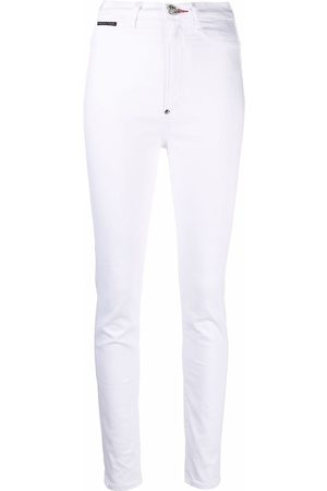 Philipp Plein Women Jeggings - High-waist jegging jeans