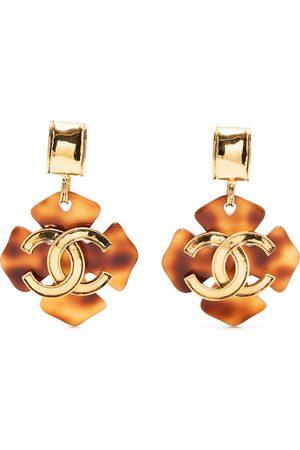 CHANEL 1994 CC clover clip-on earrings