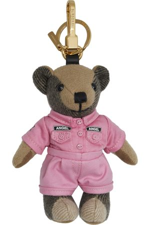 Burberry Men Keychains - Pink & Brown Two-Piece Thomas Bear Keychain