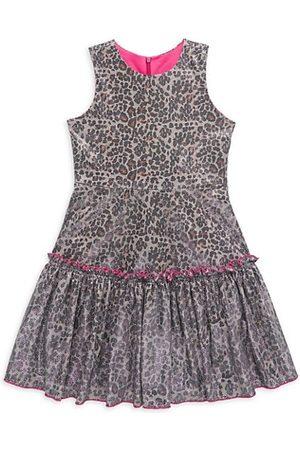 Zoe LTD Girls Printed Dresses - Girl's Jacqueline Leopard Print Glitter Dress