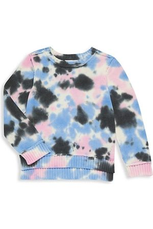 Design History Girls Sweatshirts - Little Girl's & Girl's Tie-Dye Cropped High-Low Sweatshirt