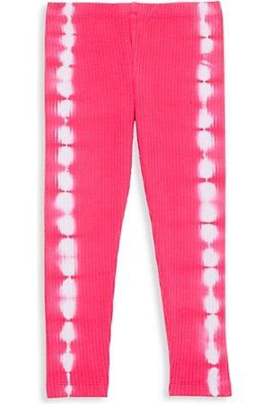 Design History Girls Leggings - Little Girl's & Girl's Tie-Dye Ribbed Leggings