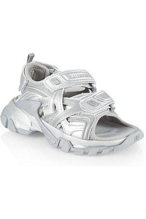 Balenciaga Sandals - Little Kid's & Kid's Metallic Track Double Touch-Strap Sandals