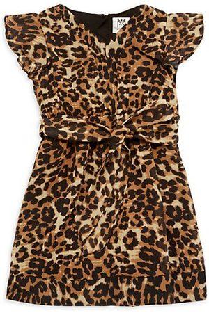 Milly Girls Printed Dresses - Little Girl's & Girl's Leopard Print Pleated Dress