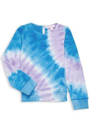 Design History Little Girl's & Girl's Terry Tie-Dye Sweatshirt
