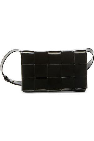 Bottega Veneta Women Handbags - The Shiny Cassette Leather Crossbody Bag