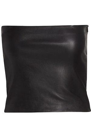 SPRWMN Leather Bandeau Top