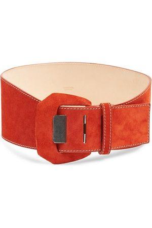 Agnona Belts - Covered Buckle Suede Corset Belt