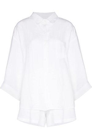 Deiji Studios Women Lingerie Sets - Button-up two-piece pajama set
