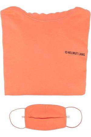 Helmut Lang Men Sweatshirts - Logo-print cotton hoodie