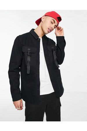 Topman Men Casual - Four pocket overshirt in with buckle detailing