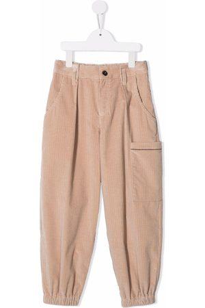 Brunello Cucinelli Girls Wide Leg Pants - Corduroy wide-leg trousers