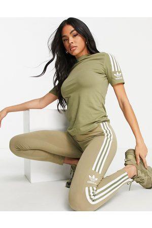 adidas Adicolor Locked Up leggings in khaki