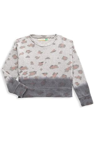 Vintage Havana Girls Sweatshirts - Girl's Leopard Dip Dye Sweatshirt