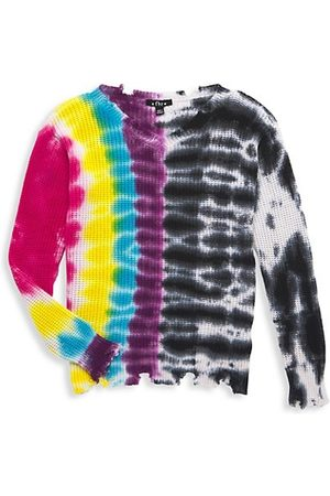 Flowers By Zoe Girl's Distressed Tie-Dye Sweater