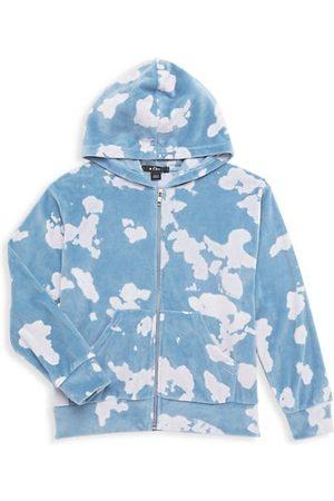Flowers By Zoe Girls Sweatshirts - Girl's Bleached Zip-Up Hoodie Sweatshirt