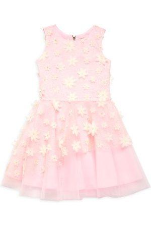 Zoe LTD Girls Printed Dresses - Girl's 3D Dandelion Floral Dress