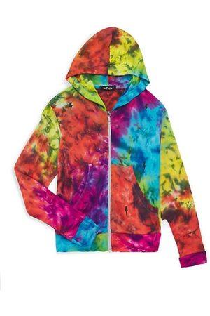 Flowers By Zoe Girl's Tie-Dye Zip-Up Hoodie Sweatshirt