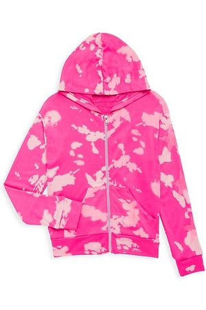 Flowers By Zoe Girl's Bleached Stars Zip-Up Hoodie Sweatshirt