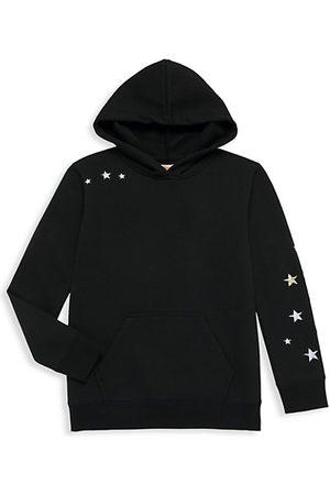 Vintage Havana Girls Sweatshirts - Girl's Embroidered Star Hooded Sweatshirt
